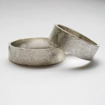 Textured Wedding Rings 2